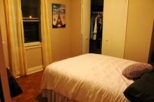 The bedroom's initial look
