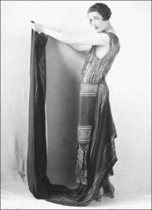 Woman-modeling-Paul-Poiret-evening-dress