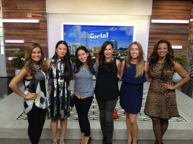 Posing with the ladies of The Social: Melissa Grelo, Lainey 'Gossip', Alice, Cynthia Loyst, me, Traci Melchor