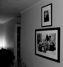 The first iteration of the picture wall